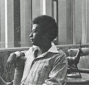 Robert Holmes. Photo from Fall 1976 issue of black art: an international quarterly