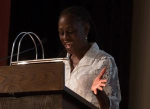 Remarks by Chirlane McCray opened the conference. Photo: Riccardo Cavallari/courtesy of New York University