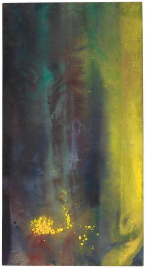 Sam Gilliam, Untitled, acrylic on canvas, 1969. Courtesy of Swann Auction Galleries