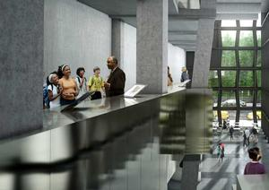 Rendering for the Education Bar. Courtesy of The African Center