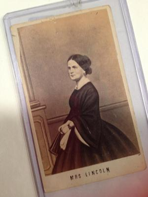 Mrs. Lincoln carte-de-visite collected by Wilson for Eliza's Cabinet