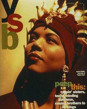 YSB cover, Nov 1993. BET magazine designed by Fo Wilson