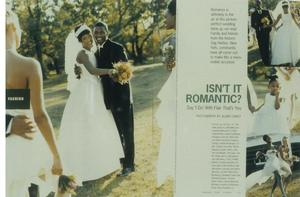 Essence magazine fashion layout, ca., 1998. Fo Wilson redesign with Wynn Dan