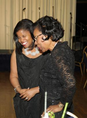 2015 award recipient Andrea Barnwell-Brownlee (left) and Gwendolyn Everett, associate dean, Howard University Divison of Fine Arts. Photo: John Body