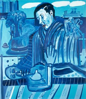 "Figure 1. Billie's Blues (Tribute to Billie Holiday), 1986, oil on linen, 90¼ x 78¼"". Collection of the Greenville Museum of Art, SC"