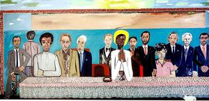 "Figure 4. The Last Supper, 1983, oil on linen, 84 x 252"". Collection of the Frederick J. Brown Trust"