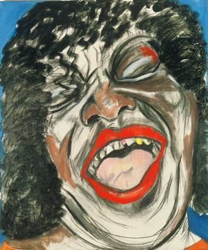 "Figure 8. Koko Taylor, 1989, oil on linen, 60 x 50"". Collection of the State Department"