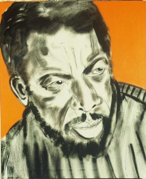 "Figure 18. Ornette Coleman, 1992, oil and charcoal on linen, 48 x 40"". Collection of the National Portrait Gallery"