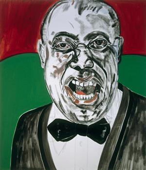 "Figure 20. Louis Armstrong, 1987, oil on linen, 84 x 72"". Collection of the Frederick J. Brown Trust"