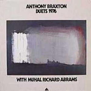 "Figure 17. Anthony Braxton's Duets 1976 LP cover art featuring Opening for Jim, 1975. Original painting acrylic on canvas, 35 x 25"". Collection of the Frederick J. Brown Trust"