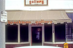 The first major African American-owned gallery in Los Angeles: Brockman Gallery, Degnan Blvd., Leimart Park, c. 1967. Photo courtesy Brockman Archives.