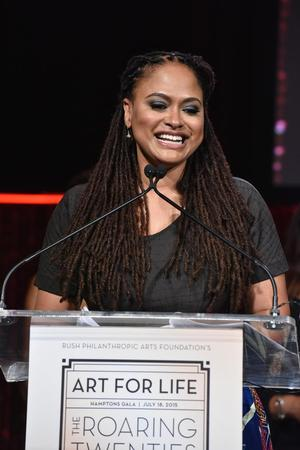 Ava DuVernay speaking at Art For Life gala