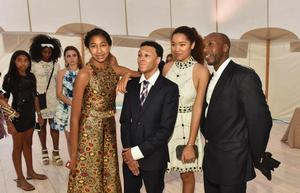 Aoki Simmons, Russell Simmons Jr., Ming Lee Simmons and Vlad Charles  at Art For Life gala