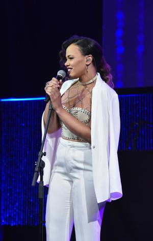 Elle Varner performs at gala