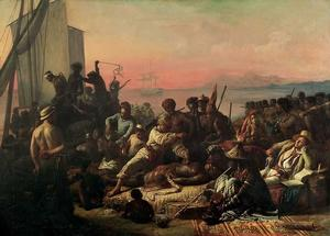 "François-Auguste Biard, The Slave Trade, 1833, oil on canvas, 64 × 90.""  Wilberforce House Museum Collection"
