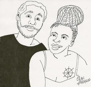 Charles Johnson's self portrait with daughter Elisheba