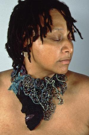 Joyce J. Scott, Lynching Necklace, 1998, glass beads and thread. Courtesy Fred and Emily Gurtman