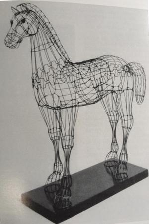 Hayward Oubre, Young Horse, 1958, wire, 55 h""