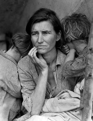 Migrant Mother, Nipomo CA, 1936. Dorethea Lange (FSA)