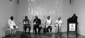 Conversations with the Diaspora panel 2 moderated by Victor Dzidzienyo.  Photo: Jack Travis