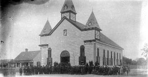 Undated photo of a former Bethel AME Church building. State Archives of Florida, Florida Memory