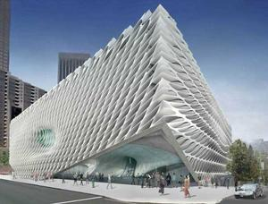 Exterior view The Broad museum, Los Angeles  (Diller Scofidio + Renfro)