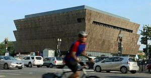 The NMAAHC building on the Mall. (NBC News)