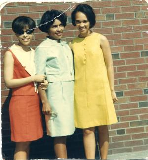 Sandra Baccus, with mother Ada Anderson and cousin Muriel Jones at Sandra's graduation from Boston University
