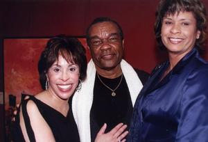 Sandra Baccus, David C. Driskell, and Donna Crim at M. Hanks Gallery, Santa Monica, CA. Jan. 2002