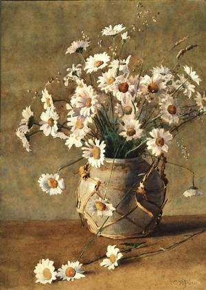 Porter, Charles Ethan (1847–1923), Still Life with Daisies, n.d., watercolor on paper, 18.25 x 12.75