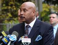 Police Chief William C. Robinson at press conference (WABC)