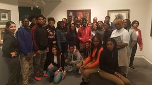East Orange students at Lafayette College exhibition of Robinson collection
