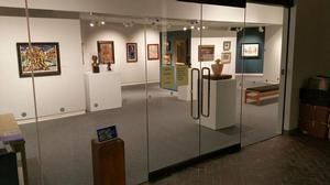 Entrance to In the Line of Duty exhibition, Lafayette Galleries, Easton, PA