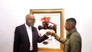 Usher and Jerry Thomas at Alan Avery Art Company (Courtland C. Bivens/The Write Publicist & Co. ©)