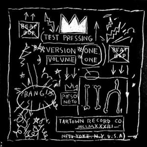 Jean-Michel Basquiat created this drawing for the cover of the BeatBop rap recording. Art licensed under Fair use via Wikipedia Commons