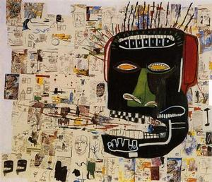 Jean-Michel Basquiat, untitled,  1984, acrylic & crayon on wood, 254 x 289.6 cm Private Collection (WikiArt.org )
