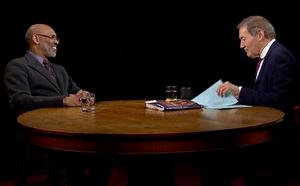Charlie Rose interview with Richard Powell. (Screenshot from PBS program)