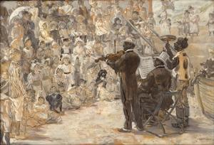 Smalls Jean-Francois Raffaelli, The Minstrels, 1887, oil on canvas, Philadelphia Museum of Art
