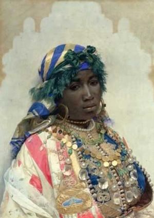 "Childs and Libby's 2016 exhibition will include this 19th century water color by RJosé Tapiró Baró,  A Tangerian Beauty, 26 x 18 1/2"", Dahesh Museum of Art, 1995.117"