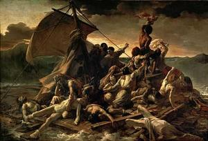 "Jean Louis Théodore Géricault The Raft of the Medusa, 1818-1819, oil on canvas 193.3 × 281.9"" Musée du Louvre collection"