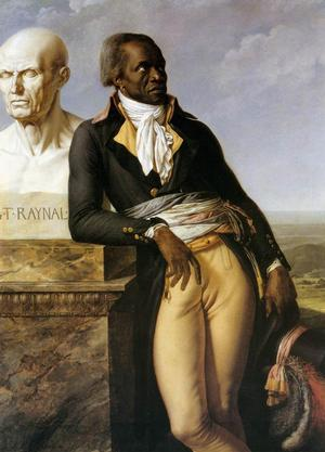 Anne-Louis Girodet de Roussy-Trioson,  Portrait of J. B. Belley, Deputy for Saint-Domingue, 1797, oil on canvas, 62.6 x 44.5
