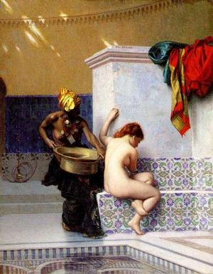 Jean-Leon Gerome, Moorish Bath, 1892, oil on canvas, Collection of Museum of Fine Arts, Boston