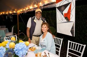 Dr. Hassan Minor Jr. & Wife at Art on the Vine, The Agora Culture, 8/22/2015, Kelley DeBettencourt Photography