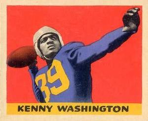 Kenny Washington collectible football card.  Washington is one of the four athletes who will be commemorated in the commissioned painting
