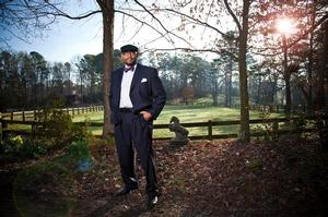 Pellom McDaniels at the stables. Emory Photo and Video, 2014