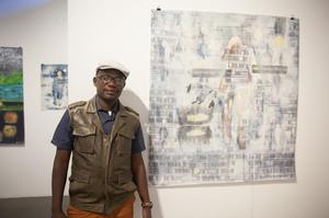 Paul Onditi, ArtLabAfrica, 1:54 Art Fair.  Photo: Anders  Jones