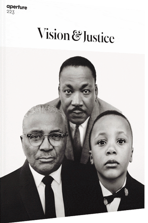 Richard Avedon, Martin Luther King, Jr. with his father, Martin Luther King, and his son, Martin Luther King III, 1963. Summer 2016 Aperture cover