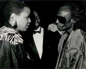 Terrie Williams, Erin Davis (Miles' son) and Miles Davis.  Photo: Collection of Terrie Williams