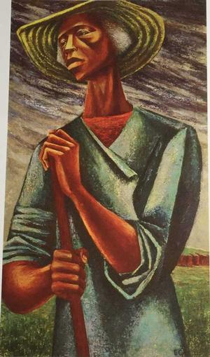 Elizabeth Catlett Sharecropper, 1946, oil on canvas. Art © Elizabeth Catlett estate/Licensed by VAGA, New York, NY