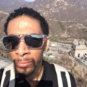 Terry Dixon during trek along the Great Wall of China